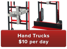Hand Trucks $10 per day